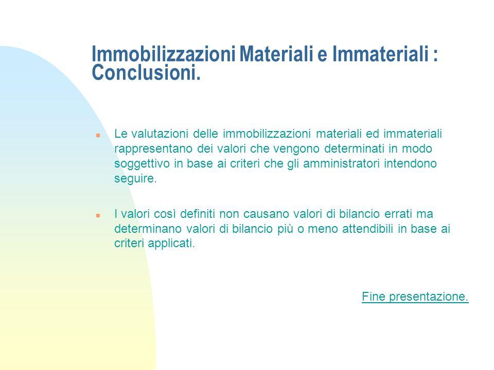 Immobilizzazioni Materiali e Immateriali : Norme fiscali. - Esempio. n Riprendendo i valori dellesempio precedente, se lazienda decide di applicare la