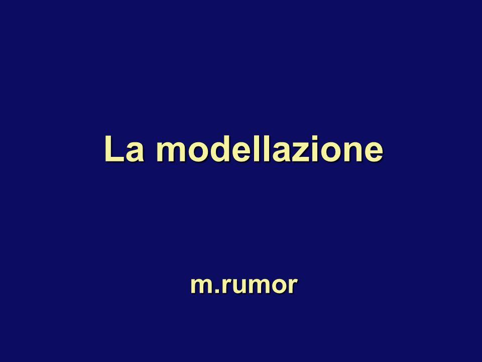 La modellazione m.rumor