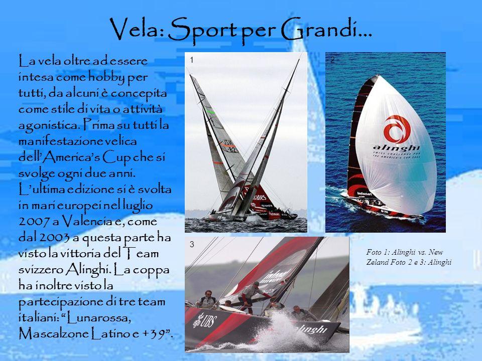 Vela: Sport per Grandi… La vela oltre ad essere intesa come hobby per tutti, da alcuni è concepita come stile di vita o attività agonistica. Prima su