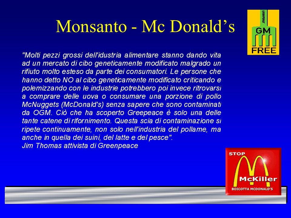Monsanto - Mc Donalds