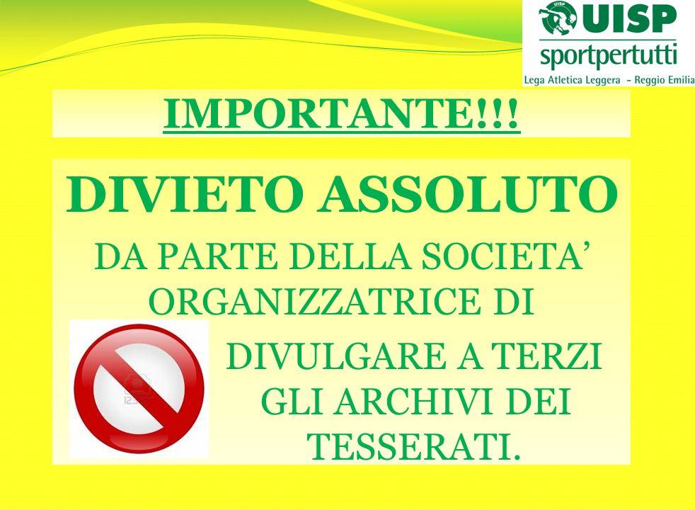 QUINDI OCCHI APERTI … NON TUTTI POSSONO PARTECIPARE!!!