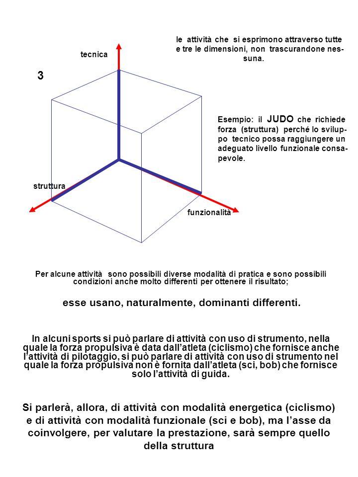 tecnica 3 struttura funzionalità le attività che si esprimono attraverso tutte e tre le dimensioni, non trascurandone nes- suna.
