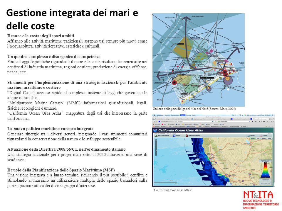 Il mare e la costa: degli spazi ambiti Affianco alle attività marittime tradizionali sorgono usi sempre più nuovi come lacquacoltura, attività ricreat