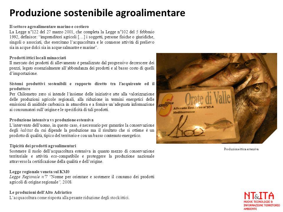 Il settore agroalimentare marino e costiero La Legge n°122 del 27 marzo 2001, che completa la Legge n°102 del 5 febbraio 1992, definisce: imprenditori