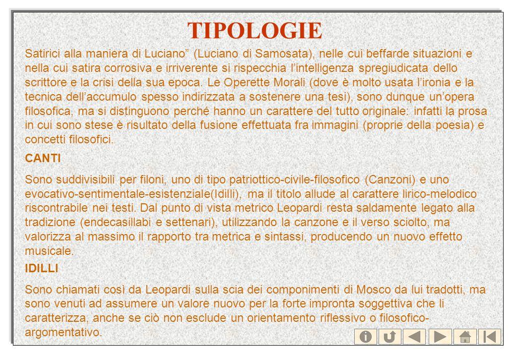 TIPOLOGIE Satirici alla maniera di Luciano (Luciano di Samosata), nelle cui beffarde situazioni e nella cui satira corrosiva e irriverente si rispecch
