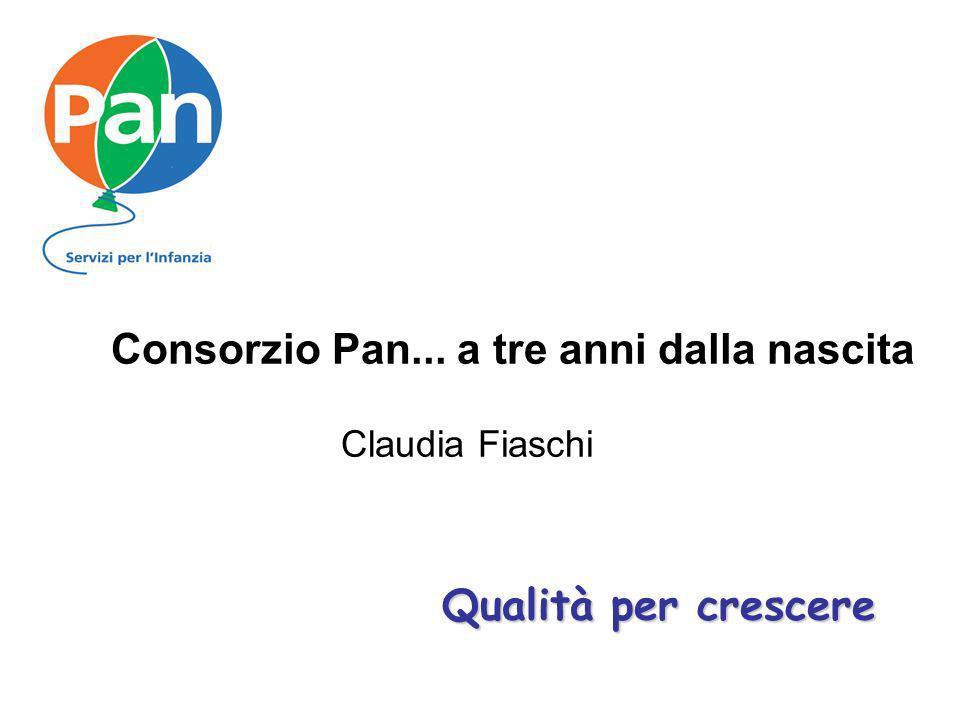 Qualità per crescere Consorzio Pan... a tre anni dalla nascita Claudia Fiaschi Qualità per crescere