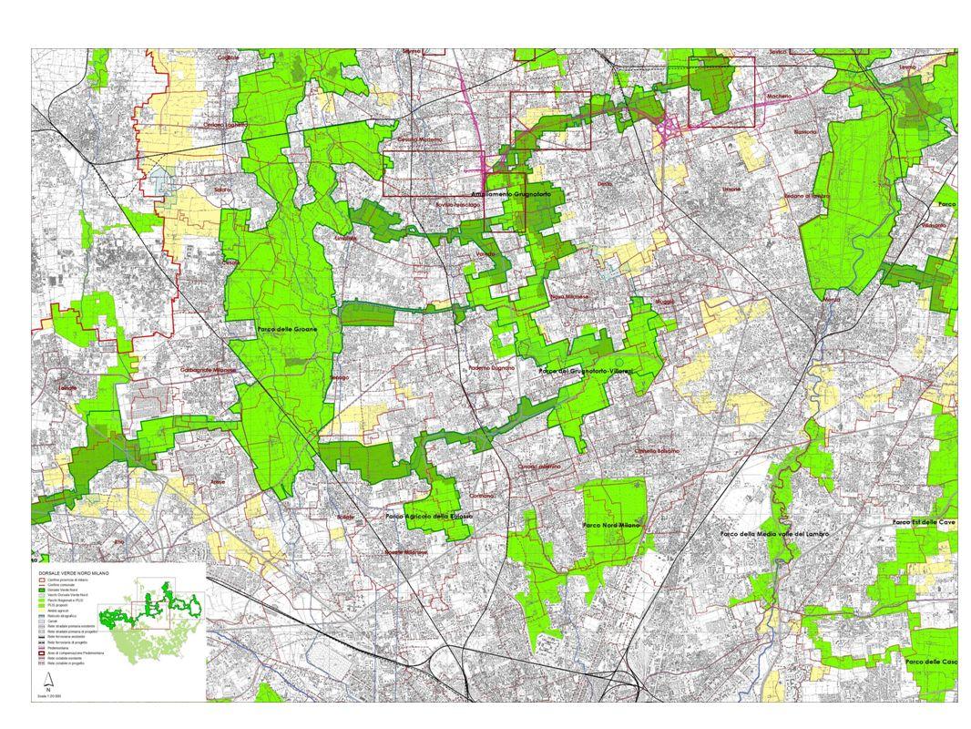 LE TIPOLOGIE DI INTERVENTO NEI COMUNI E NEI PARCHI parco urbano bosco urbano agroambientale urbano connessione forestale consolidamento naturalità riqualificazione paesaggio agrario