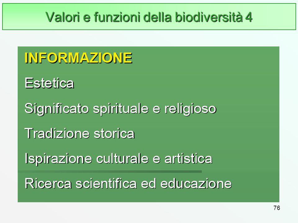 76 Valori e funzioni della biodiversità 4