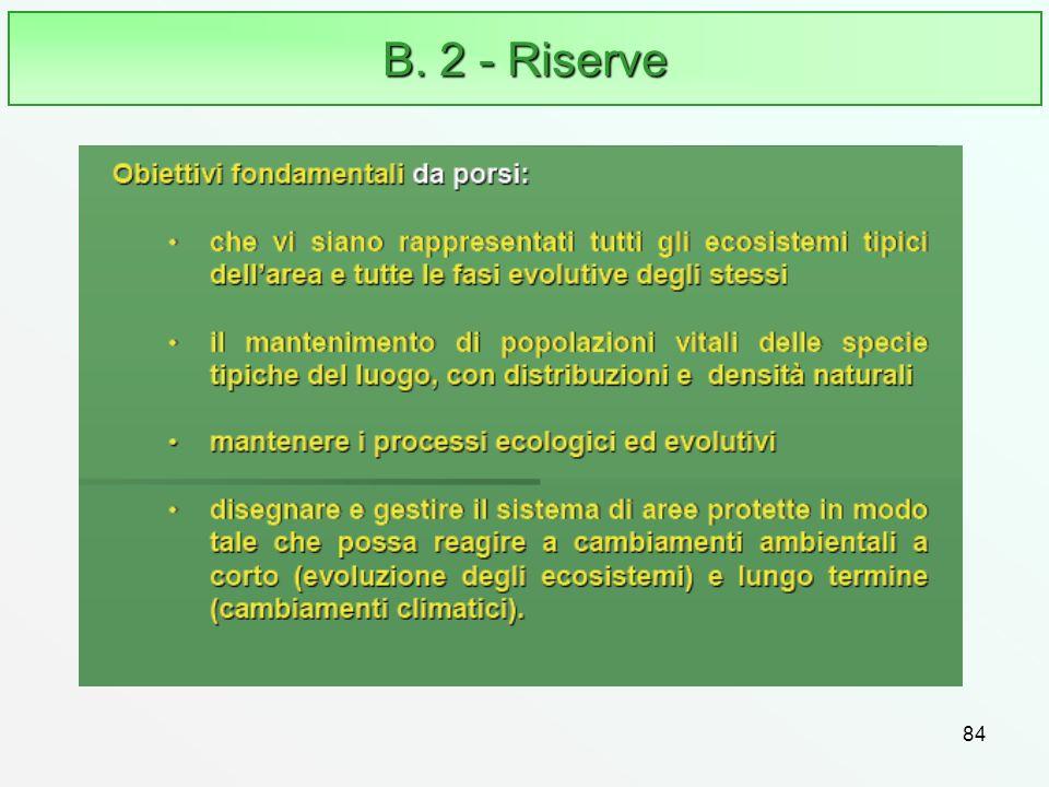 84 B. 2 - Riserve