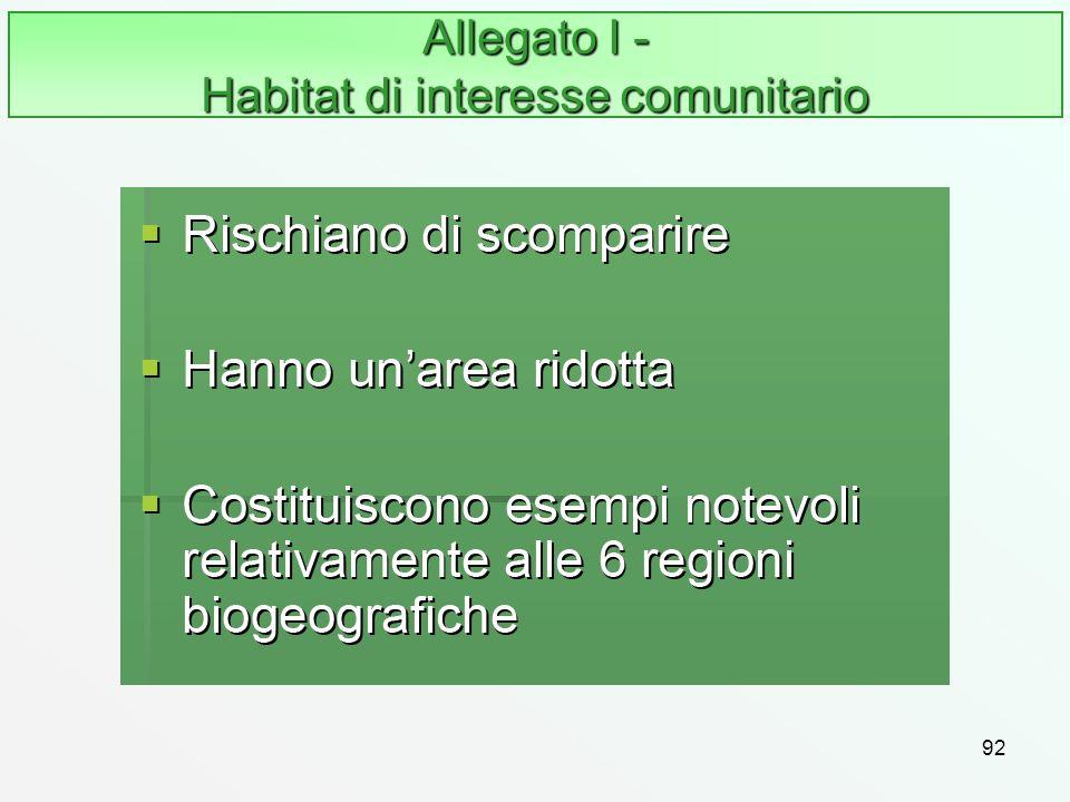 92 Allegato I - Habitat di interesse comunitario