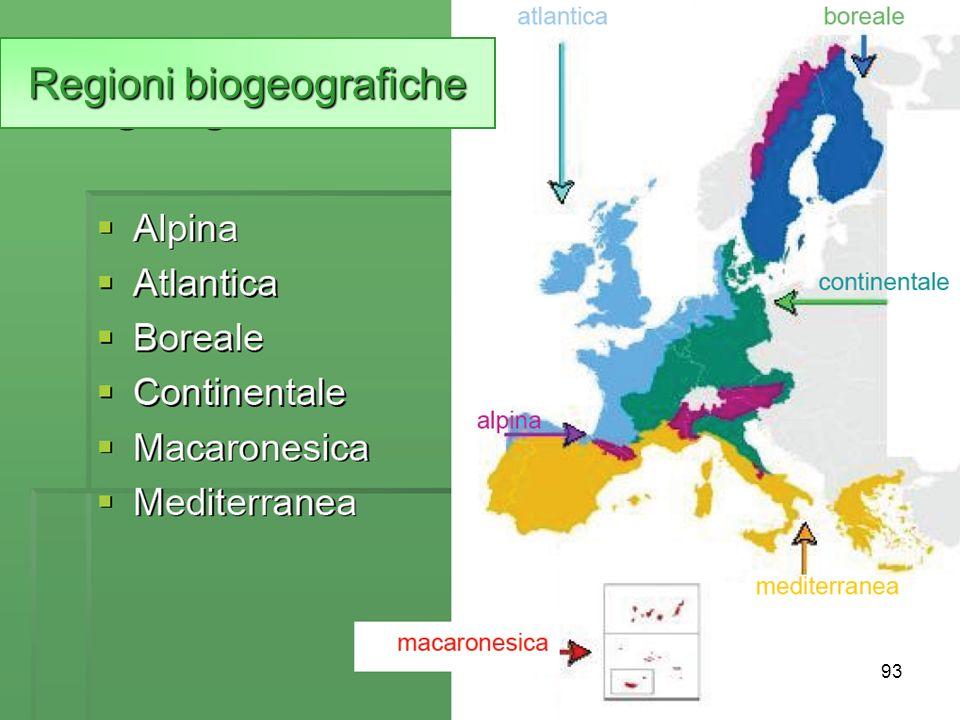 93 Regioni biogeografiche