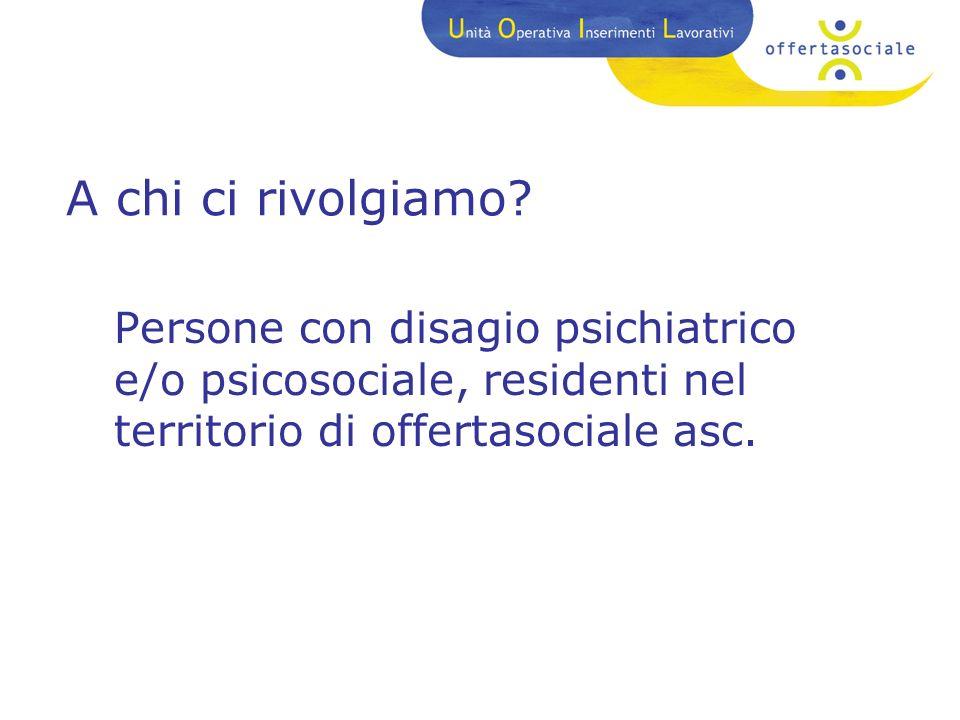 Obiettivi Accoglienza Potenziamento delle competenze relazionali Professionalizzazione Scambio con la realtà sociale