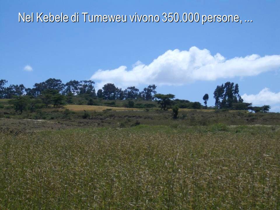 Tumeweu dista 100 km da Addis Ababa, di cui 30 km di pista