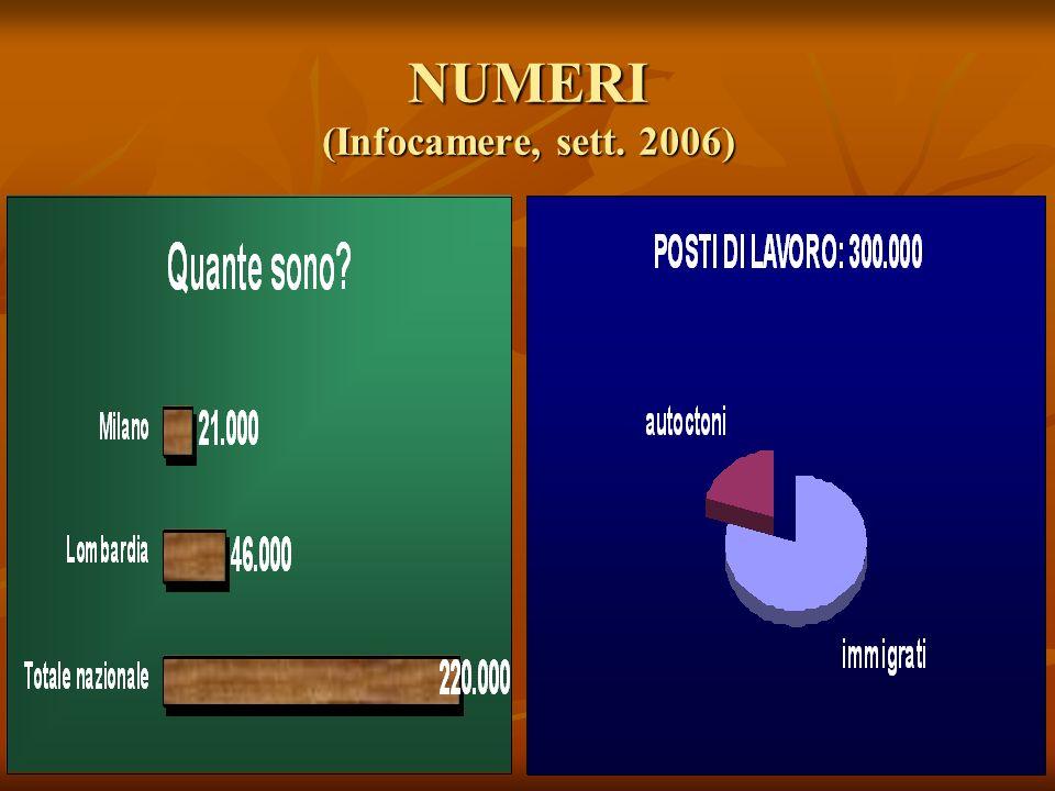 NUMERI (Infocamere, sett. 2006)