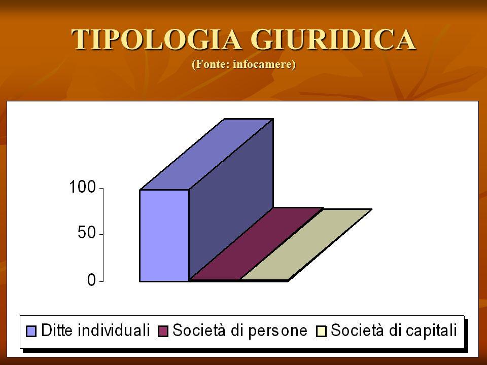 TIPOLOGIA GIURIDICA (Fonte: infocamere)