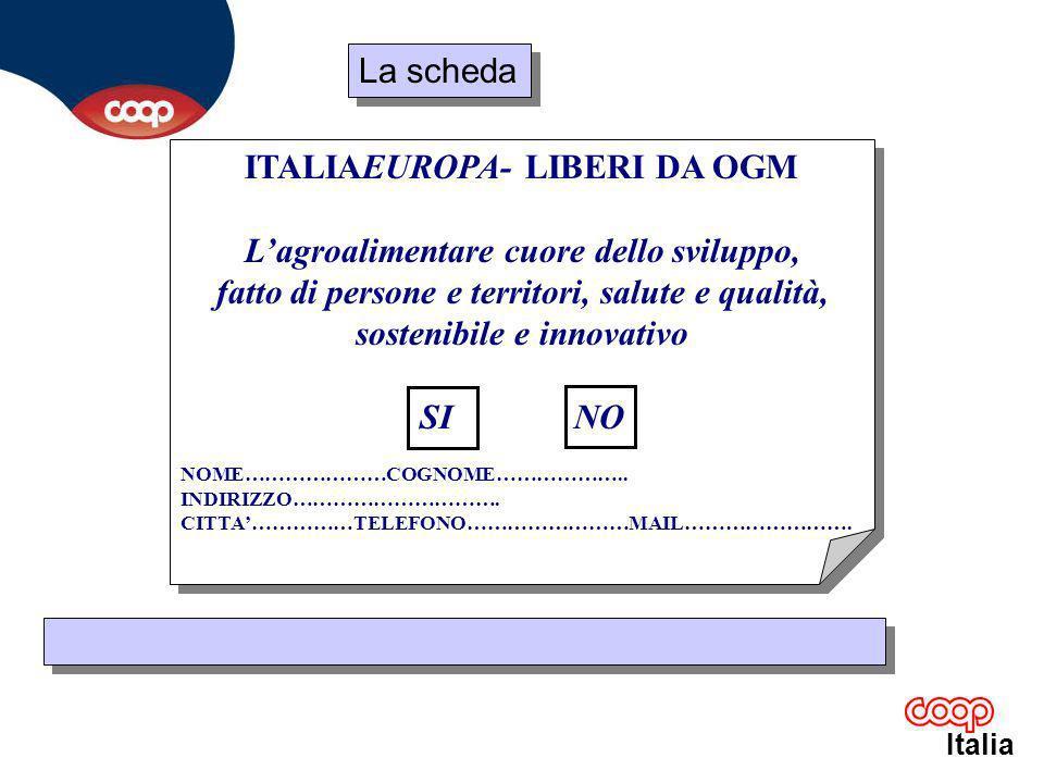 Italia La scheda: oltre a Coop alcune sigle delle 19 organizzazioni al momento aderenti Ordine nazionale dei Biologi Soc.