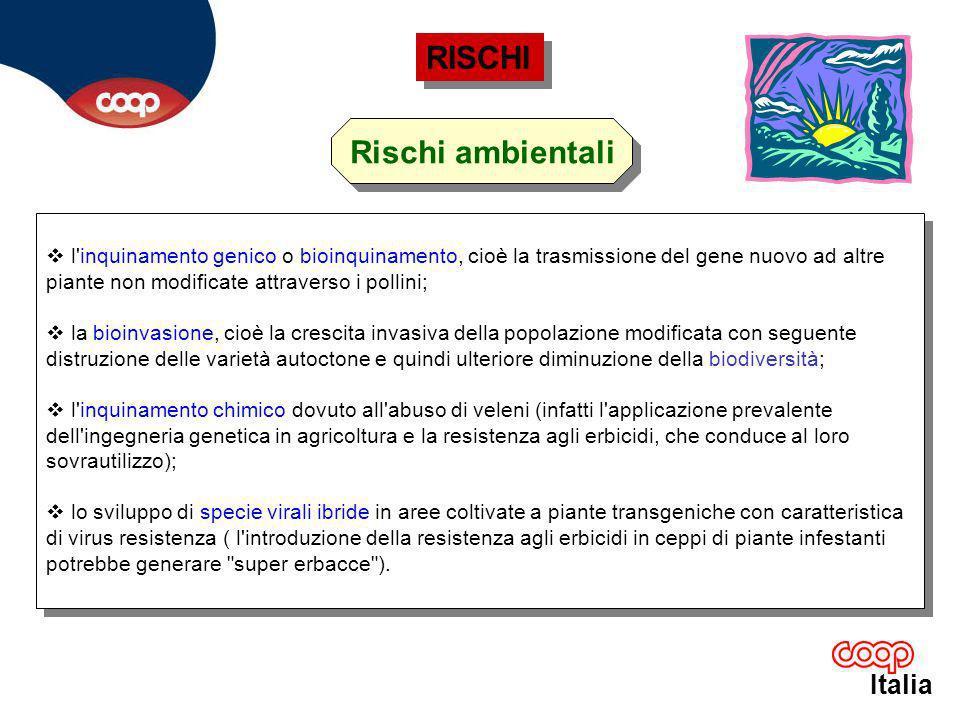 Italia le proteine di origine transgenica possono indurre reazioni allergiche o tossiche.