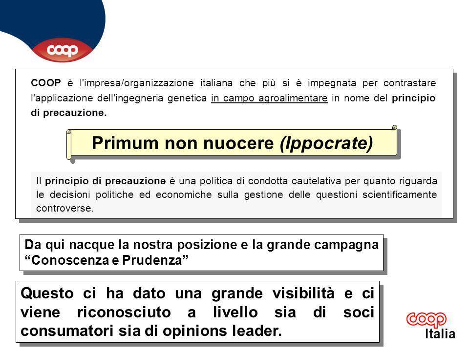 Italia COOP è protagonista di questa campagna perchè è un momento importante della battaglia per un modello di sviluppo più attento alle esigenze dei consumatori ed a quelle del pianeta.