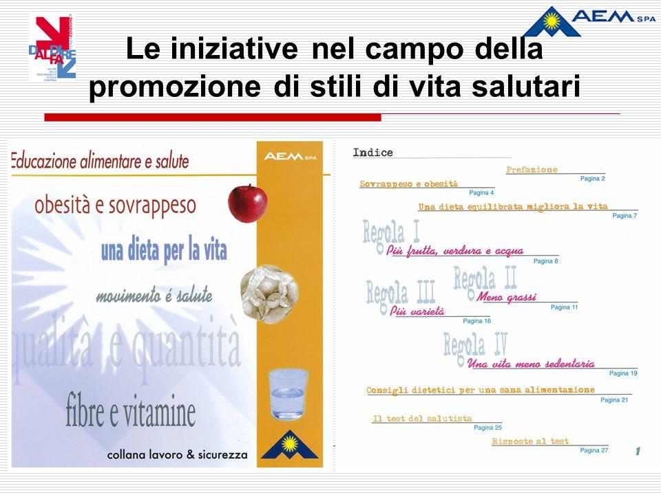 Le iniziative nel campo della promozione di stili di vita salutari