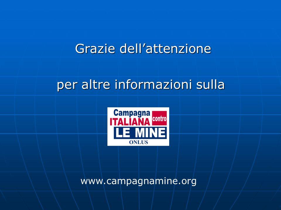 Grazie dellattenzione Grazie dellattenzione per altre informazioni sulla www.campagnamine.org