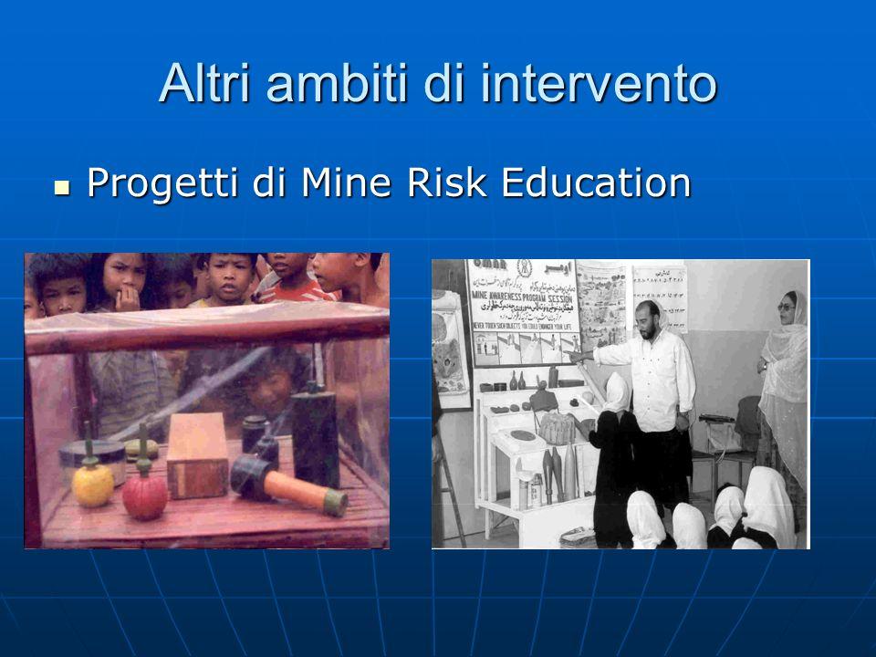 Altri ambiti di intervento Progetti di Mine Risk Education Progetti di Mine Risk Education