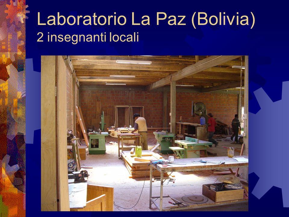 Laboratorio La Paz (Bolivia) 2 insegnanti locali