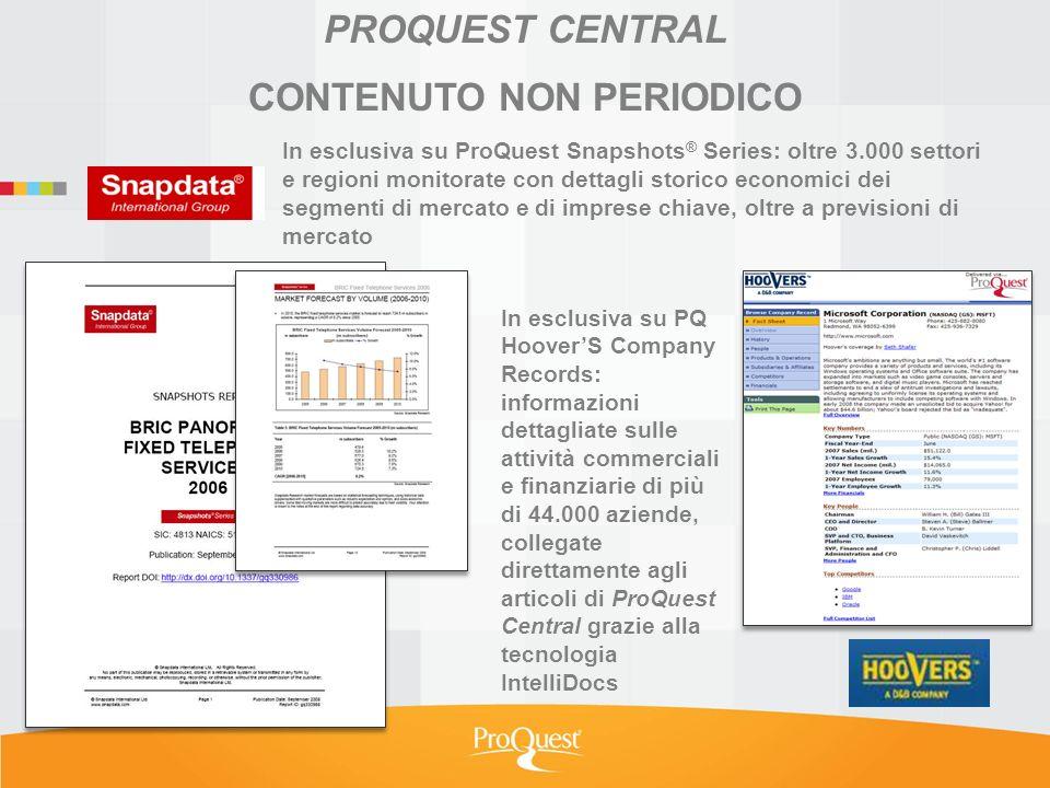 NOVITA ESCLUSIVA per ProQuest Central.