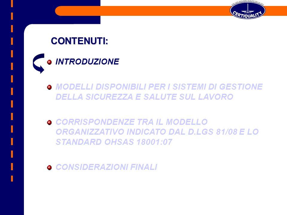D.LGS.81/08 E SISTEMI DI GESTIONE DELLA SICUREZZA D.LGS.