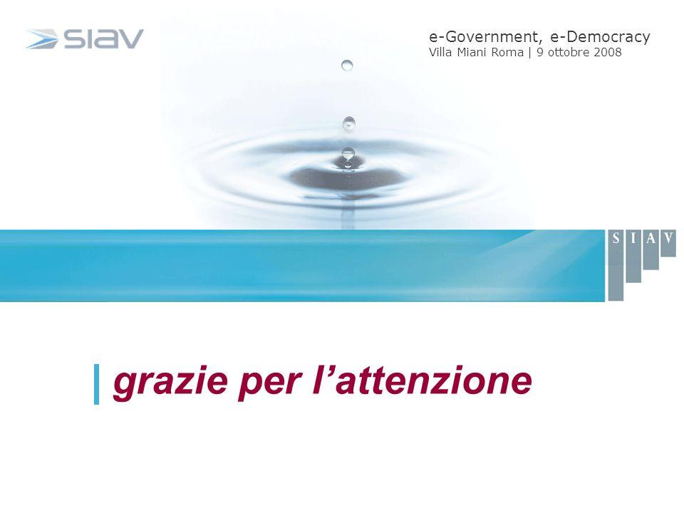 grazie per lattenzione e-Government, e-Democracy Villa Miani Roma | 9 ottobre 2008