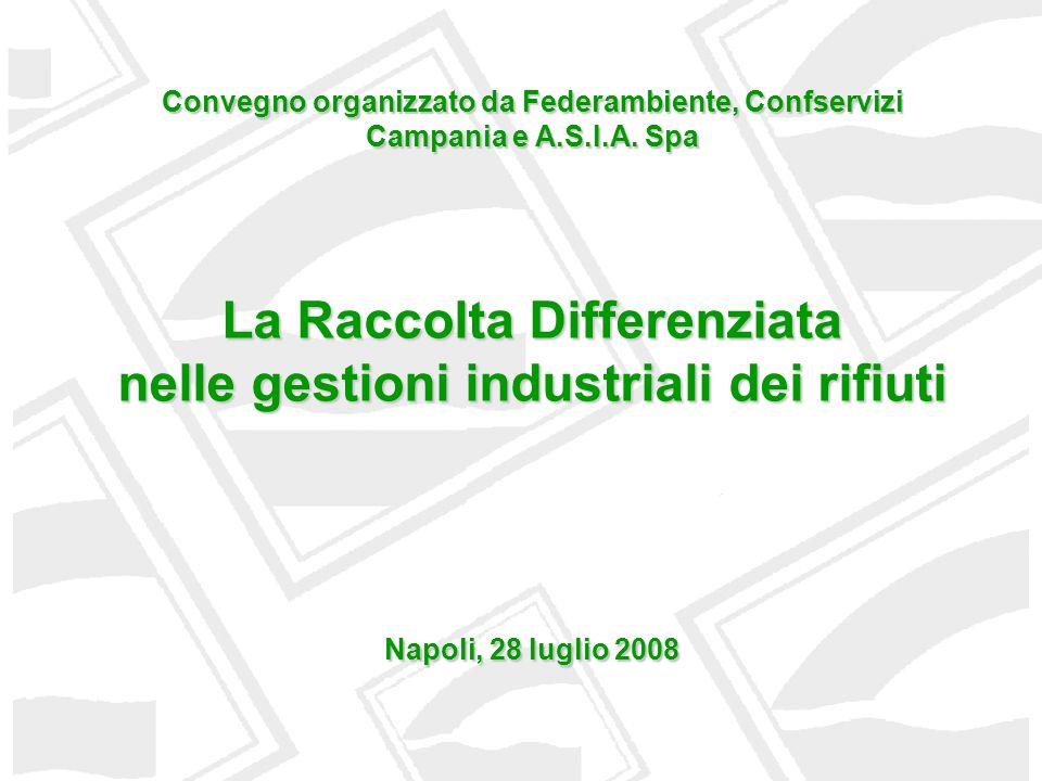 ANDAMENTO PRODUZIONE RU (1996 - 2006) Fonte: Rapporto Rifiuti Apat 2007