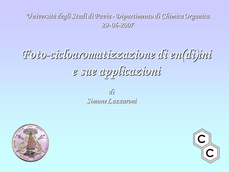 Foto-cicloaromatizzazione di en(di)ini e sue applicazioni di Simone Lazzaroni Università degli Studi di Pavia - Dipartimento di Chimica Organica 29-06