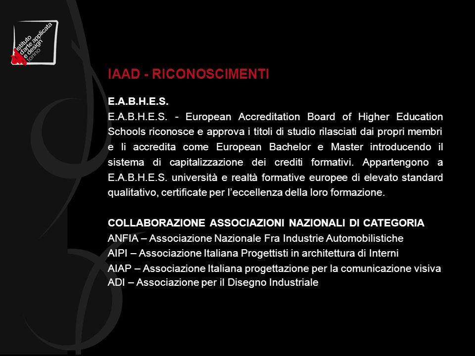 E.A.B.H.E.S. E.A.B.H.E.S. - European Accreditation Board of Higher Education Schools riconosce e approva i titoli di studio rilasciati dai propri memb