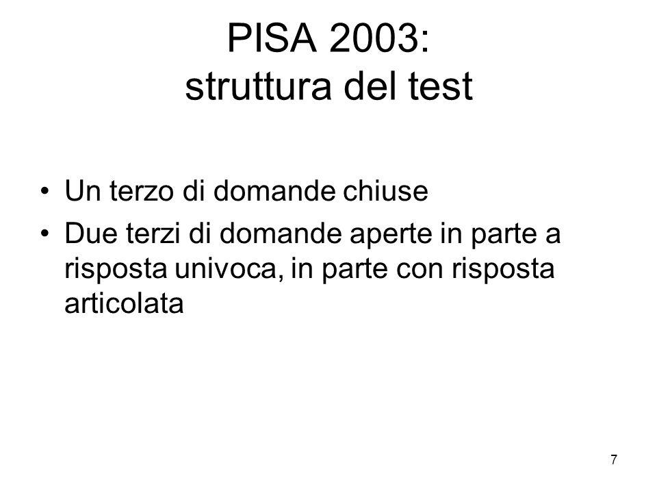 8 Lindagine OCSE PISA I concetti chiave: literacy (alfabetizzazione), ability (saper fare), skills for life (competenze per la vita) Gli studenti non possono imparare a scuola tutto quello che servirà loro nella vita adulta.