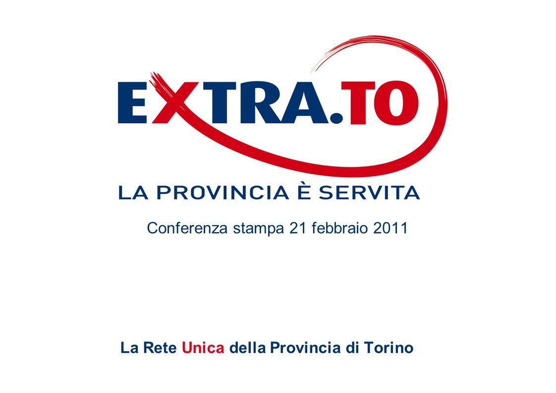 La Rete Unica della Provincia di Torino Conferenza stampa 21 febbraio 2011
