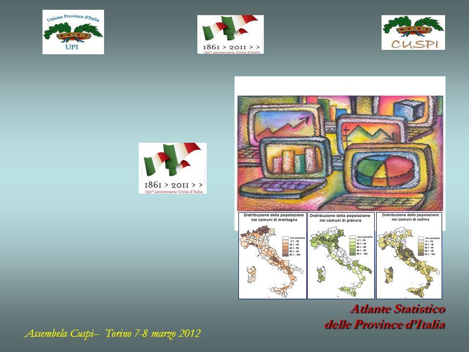 Le 10 province col maggior numero di strutture alberghiere Numero strutture alberghiere % Strutture alberghiere di lusso (4 e 5 stelle) sul totale delle strutture alberghiere presenti sul territorio provinciale BOLZANO-BOZEN 4.2548,7% RIMINI 2.2756,7% TRENTO 1.55310,6% ROMA 1.38525,1% VENEZIA 1.19718,6% NAPOLI 93930,5% BRESCIA 76418,1% SAVONA 6694,5% VERONA 64914,0% MILANO 63433,4% FIRENZE 57225,2% RAVENNA 56213,0% TORINO 56013,2% STRUTTURE ALBERGHIERE Assembela Cuspi– Torino 7-8 marzo 2012