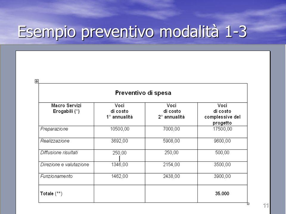 Esempio preventivo modalità 1-3 11