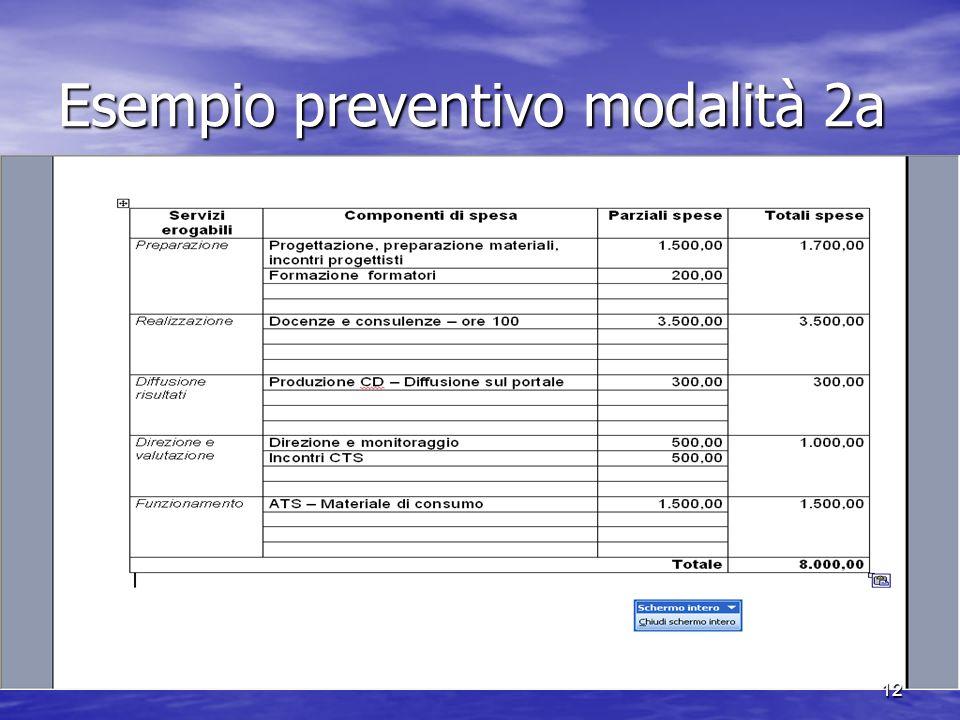 Esempio preventivo modalità 2a 12