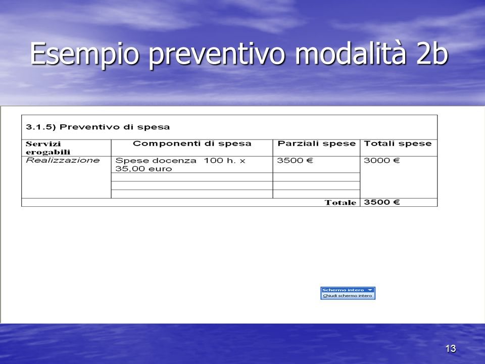 Esempio preventivo modalità 2b 13