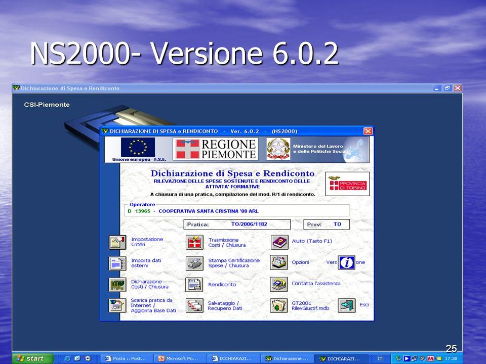 NS2000- Versione 6.0.2 25