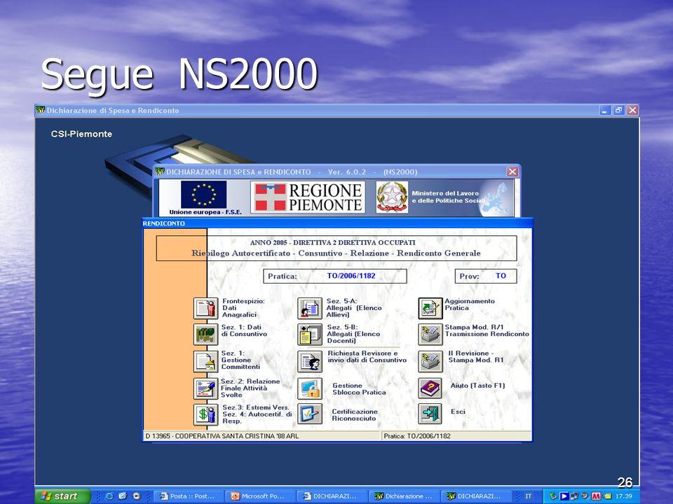 Segue NS2000 26
