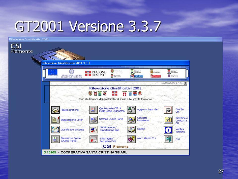 GT2001 Versione 3.3.7 27