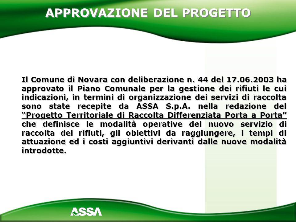 Il Comune di Novara con deliberazione n. 44 del 17.06.2003 ha approvato il Piano Comunale per la gestione dei rifiuti le cui indicazioni, in termini d