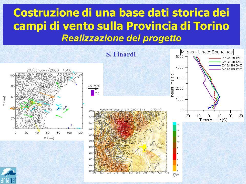 Costruzione di una base dati storica dei campi di vento sulla Provincia di Torino Realizzazione del progetto S. Finardi