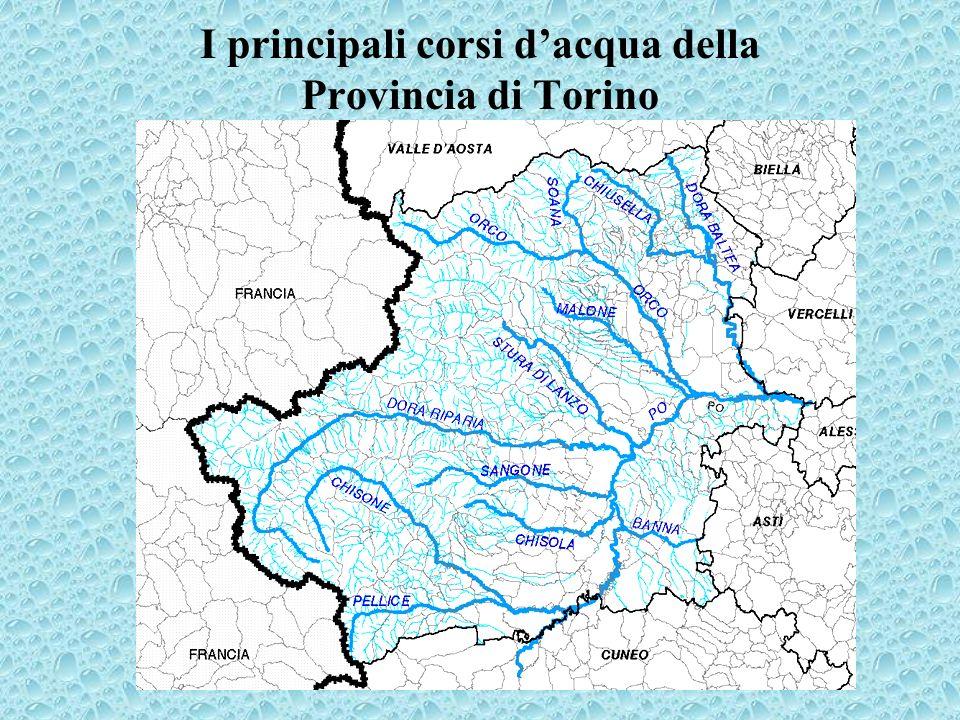 I principali corsi dacqua della Provincia di Torino