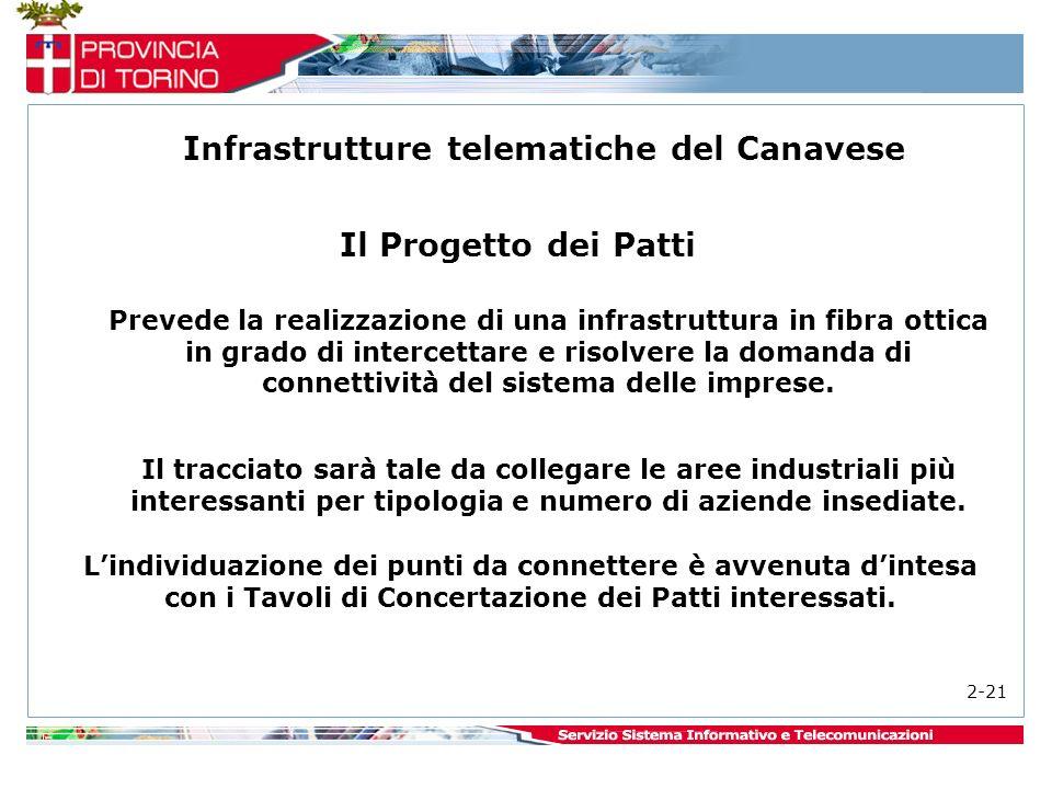 Prevede la realizzazione di una infrastruttura in fibra ottica in grado di intercettare e risolvere la domanda di connettività del sistema delle imprese.