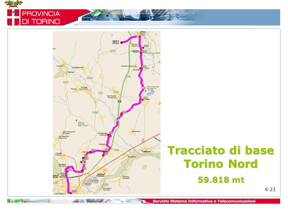 BIO Tracciato di base Torino Nord 59.818 mt 4-21