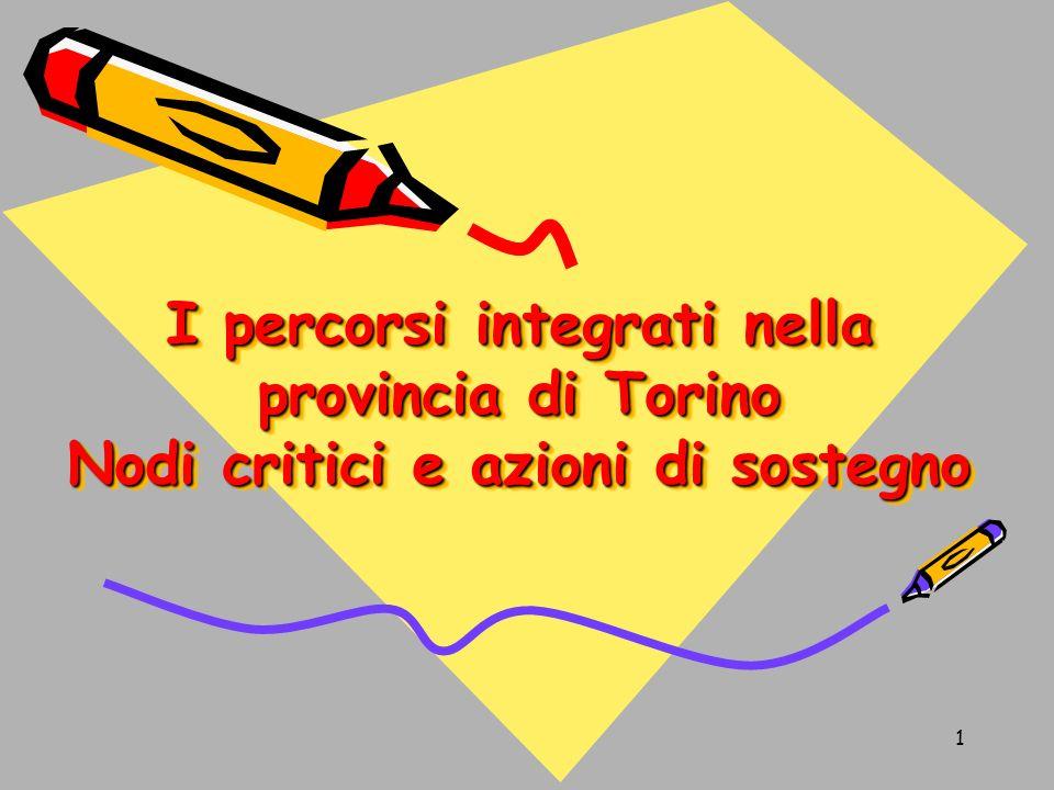 1 I percorsi integrati nella provincia di Torino Nodi critici e azioni di sostegno