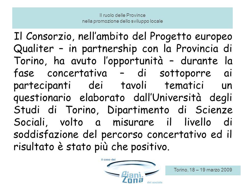 Il Consorzio, nellambito del Progetto europeo Qualiter – in partnership con la Provincia di Torino, ha avuto lopportunità – durante la fase concertati