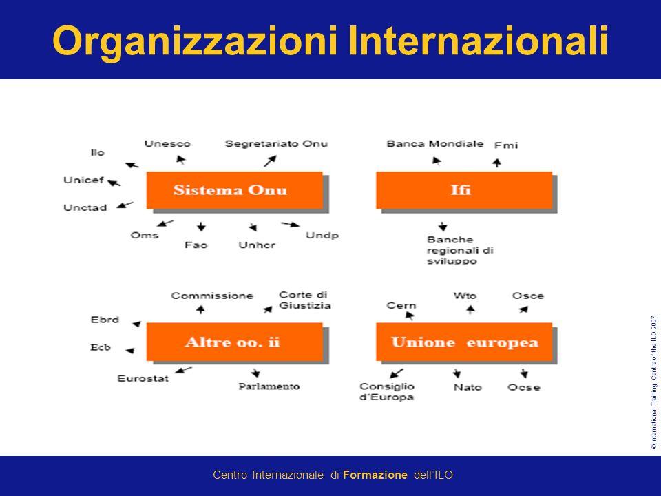 © International Training Centre of the ILO 2007 Centro Internazionale di Formazione dellILO Organizzazioni Internazionali