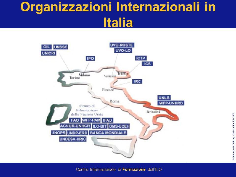 © International Training Centre of the ILO 2007 Centro Internazionale di Formazione dellILO Organizzazioni Internazionali in Italia